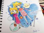FansART Rin and Len by angiewaiwai