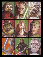 Star Wars Galactic Files Sketch Cards from Topps 8 by LeeLightfoot