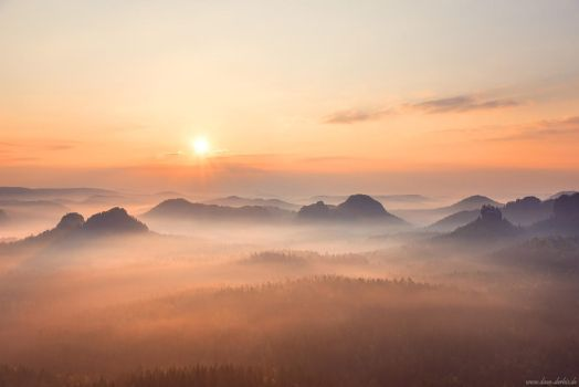 Saxon Switzerland Sunrise by Dave-Derbis