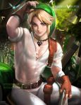 Link resting . NSFW censored . by sakimichan