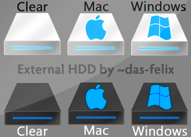 HDD Icons Pack 2 by das-felix