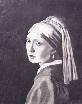 Vermeer study:  Girl with a Pearl Earring by CynicalSaint