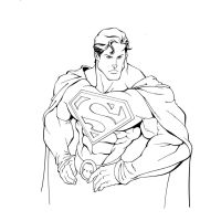 Superman inks for a friend by RolandParis