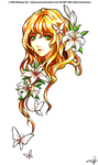 White Tiger Lily Commission by yuumei