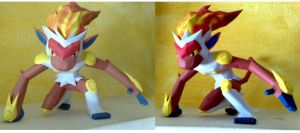 Infernape papercraft by LordBruco