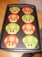 Mario Mushroom Cookie by AnimeGeer
