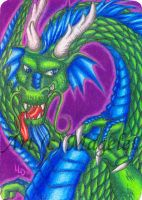 Old Snarl ACEO by Magelet