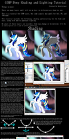 GIMP Pony Shading and Lighting Tutorial by Sorelstrasz