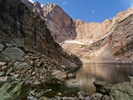 Chasm Lake and Longs Peak by Ben754