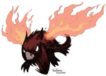 Fire-winged Hound by TariToons