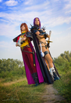 Slayers - Lina and Naga cos by GreatQueenLina