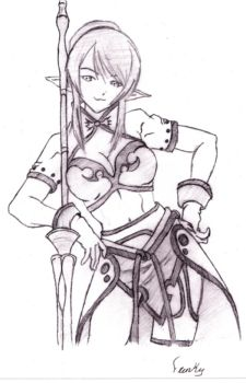 Warrior girl by franky123