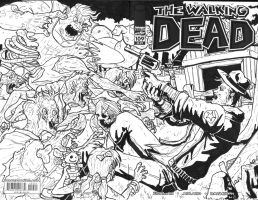 Walking Dead sketch cover by Marvin000