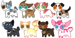 :CLOSED: 5 Point Qtie Adopts by pixeldoq