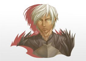 Dragon Age 2 Portrait : Fenris by CrystalPoem