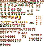 Ado SMW Sprites by Greasiggy