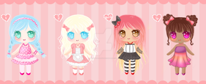 Adoptables - Lolita Pack by BeckyTheBunny