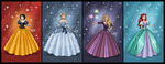 Disney Princess Gown Redesigns by Cor104