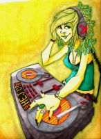 DJ Girl - Colored by HannerBananer