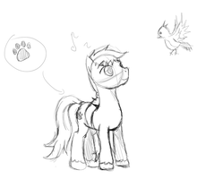 OC Pony V2 Sketch Type Doodle Thingy by Zombie-Burrito