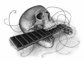 Guitar Skull by kiki71