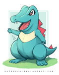 Day #01 Totodile by SolKorra