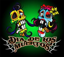 Dia De Los Muertes T-Shirt by Johnny-Sputnik