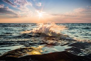 Summer Sunset on Lake Superior by RAIN2RIVER66