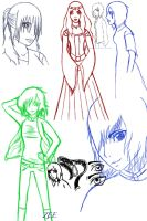 Original Character Sketch Dump by XtremeZee
