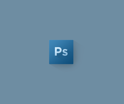 Photoshop Flat Icon by Dr-Vark
