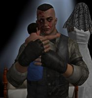 Eddie Gluskin (Outlast) and baby by RealMoonlight