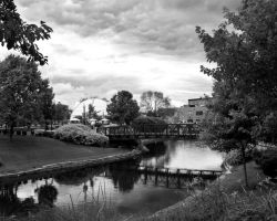 Downtown Kzoo B and W by PixelPerfectPhotog