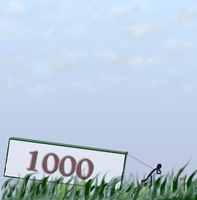 1000 pageviews thanks by dwsel