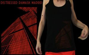 Damask madrid distressed tank by Serensdipity