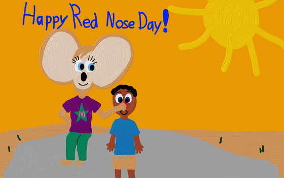 Melissa Gives a Red Nose by WonderWill7134