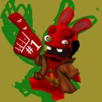 Raving Rabbids Hellboy preview by sarahmandrake