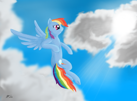 Rainbow Dash digital paint by EROCKERTORRES