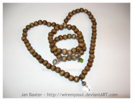 Wood Bead Love by WireMySoul