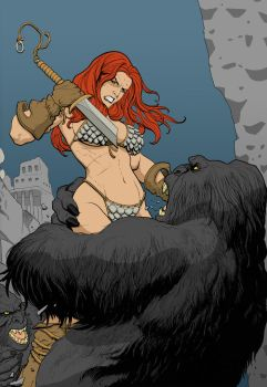 Red Sonja Colouring by Hyperchip