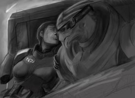 WIP:  Shepard and Garrus (no ME3 spoilers) by Armesan
