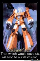 Space Runaway Ideon Motivational Poster 4 by slyboyseth