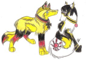 APH Germany and Japan Wolves NEW DESIGN by xMaikoWolfx