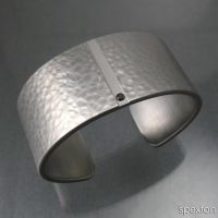 Black Diamond Steel Cuff by Spexton