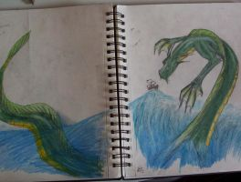 water dragon full view by ghost010