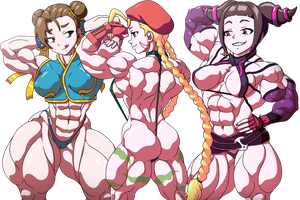 Muscled Fighters by devmgf