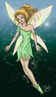 Fee verte - green Fairy by Luckytrefle