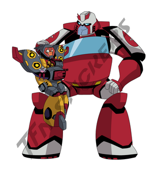 Ratchet and Omega baby sticker by LyricaBelachium