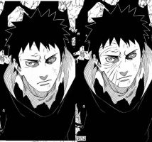 Obito before and After or in this case vise versa by Terrence3D