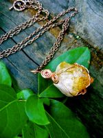 Citrine Amulet Necklace by EireCrescent
