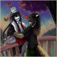 PebblesRaven[AT] Monarch Butterflies by seasaidh